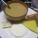 recette Soupe aux lentilles corail.