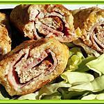 recette Croques-rolls perdus au jambon, roquefort et noix