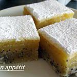 recette Carrés aux citrons et pavot