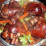 recette Jarret de porc braisé au vin rouge