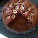 recette Gâteau nutella, noisette & banane