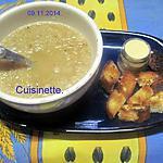 recette Soupe à l'oignon à la crème et Parmesan.