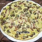 recette tarte aux quenelles de brochet et parmesan.