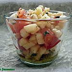 recette Verrine au pesto, à la tomate & à la pomme