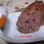 recette Gâteau rosé aux pépites chocolat.