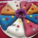 recette Parts de gâteaux fourrés et enveloppées.