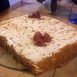 recette gâteau crème pâtissière et ses fraises spéculoos
