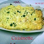 recette Pâtes coquillette au chorizo.gratinées au gouda.