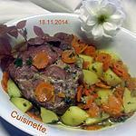recette Échine de porc s/os aux légumes.