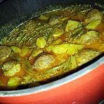 recette Ragoût pommes de terre-haricot vert au boulettes de boeuf