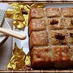 recette Quatre-quarts aux pommes, cidre, amandes et noix