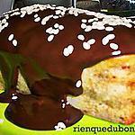 recette Petits moelleux au yaourt et aux poires, topping chocolat noir
