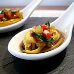 recette Moules en vinaigrette aux poivrons et coriandre...