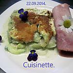 recette Gratin de courgettes au parmesan.