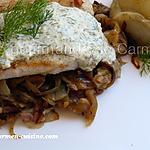 recette Filet de sandre sauce à la crème d'aneth sur un lit d'endives