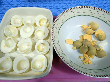 Oeufs farcis aux champignons gratines 430