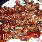 recette Brochette de boeuf tériyaki