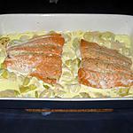 recette Saumon gratiné et poireaux au mascarpone