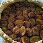 recette Tarte aux prunes et canelle