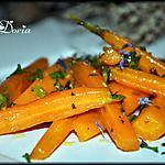 recette Carottes fondantes au cumin et fleurs sauvages de Provence