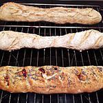 recette Baguette à l'Huile d'Olive et Tomates séchées