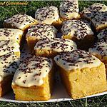 recette Bouchées moelleuses au potiron nappées de crème vanille