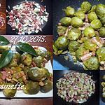 recette Choux-Bruxelles aux lardons fumés