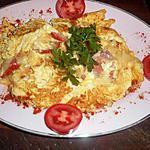 recette Omelette au chorizo portugais et fromage