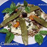 recette Riz aux légumes. mozzarella. basilic.