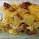 recette Gratin de cornettis au fondu de poireaux et Béchamel