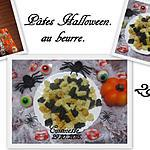 recette Pâtes Halloween au beurre.