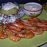 recette gambas grillees a l'ail et au citron,pommes de terre