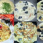 recette Omelette aux pâtes Halloween.
