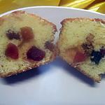 recette Muffins au yaourt aux fruits confits.