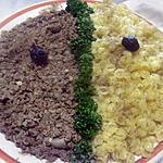 recette Bœuf haché au pesto basilic aux pâtes.