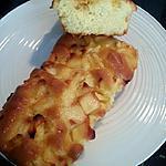 recette Cake nature, pommes caramélisées et déco