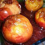 recette Pommes au four à la gelée de coing,miel et spéculoos