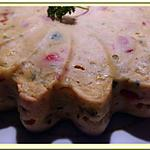 recette Gâteau de courgette et poivron au poulet