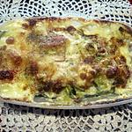 recette Courgettes au jambon et parmesan. gratinés.
