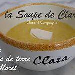 Soupe Potiron, Pommes de Terre et St Moret