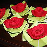 """recette Pliage de serviette """"rose"""""""