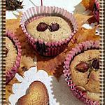 recette Muffins à la crème de marron, noisette et chocolat blanc.