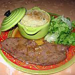 recette Foie de veau, sauce à l'échalote, purée maison