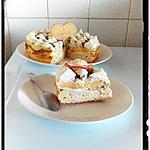 recette gâteau de fromage blanc revisité pomme-rhum-chocolat