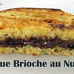 recette Croque Brioche au Nutella