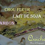 recette Quiche au lait de soja, jambon et chou fleur