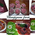 recette Champignons farcis.