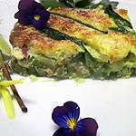 recette Clafoutis aux asperges vertes et jambon cru fumée.