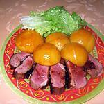 recette Magret de canard aux pêches