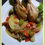 recette Pilons de poulet et légumes au four